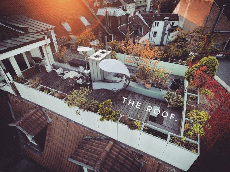 Le toit de Karlsruhe. Meilleure vue et son emplacement dans la ville.
