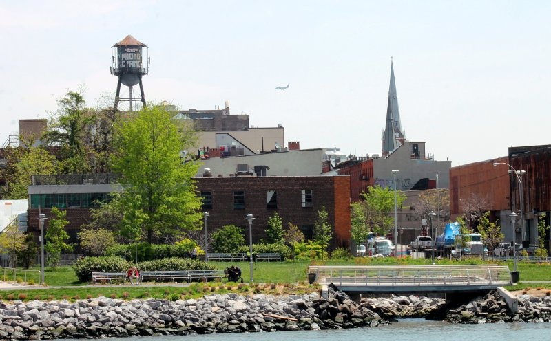 View of Greenpoint from commuter ferry