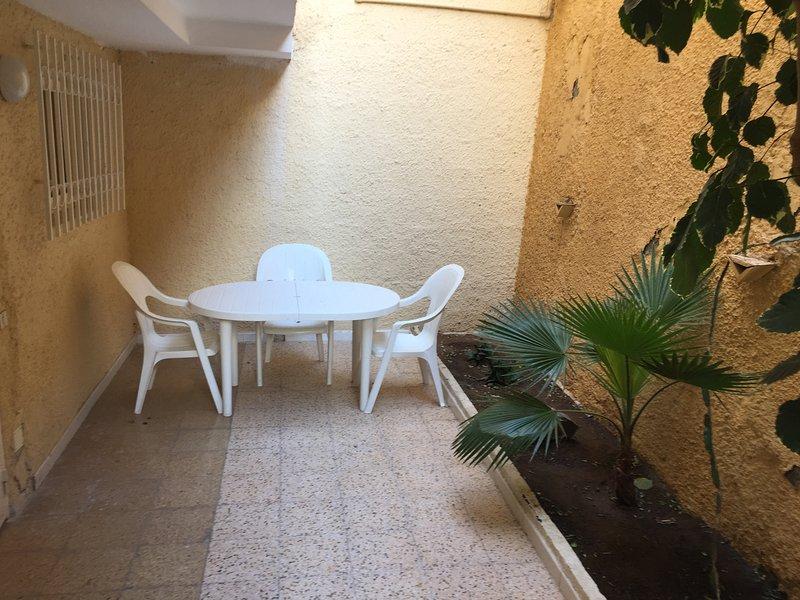 Terraza trasera. Back garden
