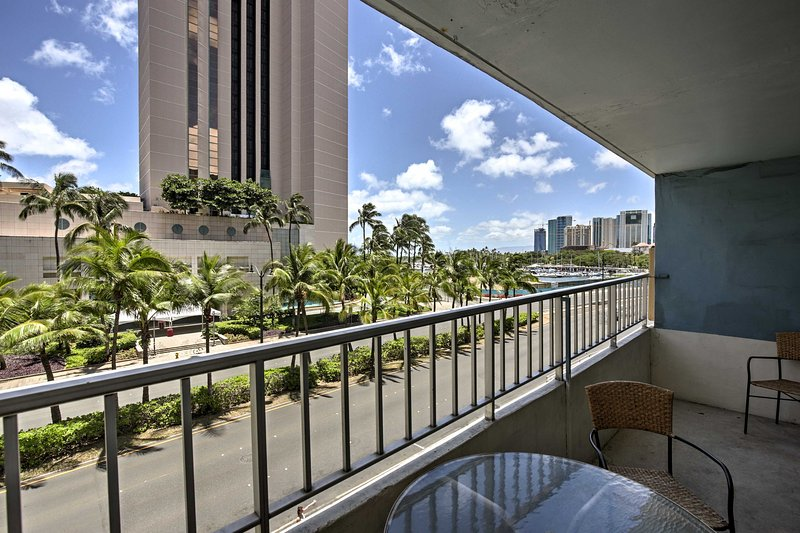 Sip cocktails on the private lanai.