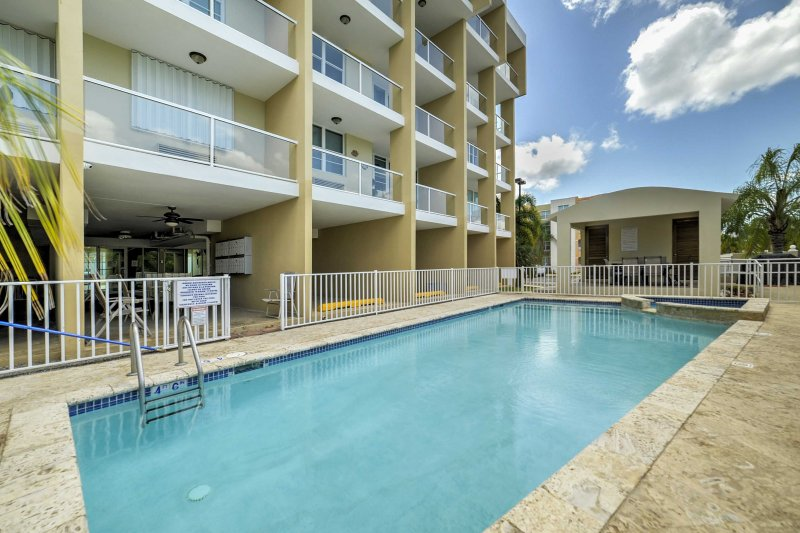 You'll love the resort amenities at this lovely Rincon vacation rental apartment, located within walking distance of Puerto Rico's beautiful beaches!