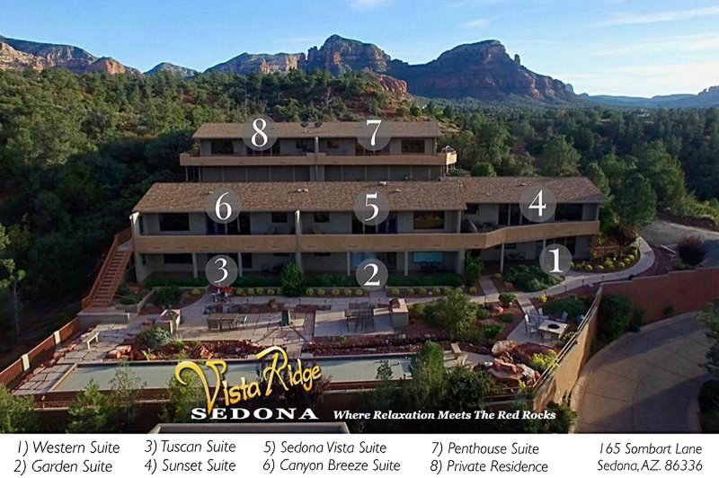 Vista Ridge Sedona suite map.