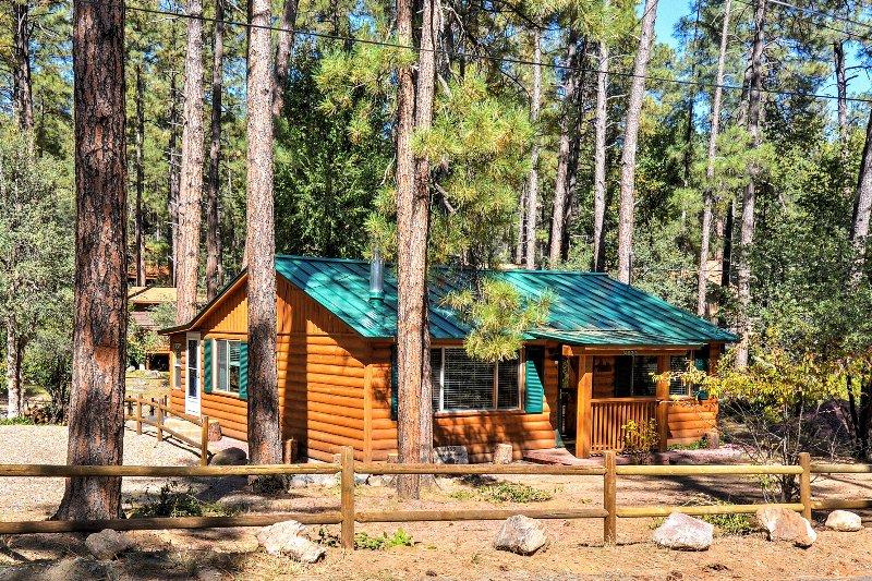 Gemütliche bis unterhalb der Ponderosa Pines in dieser Prescott Hütte im Wald!