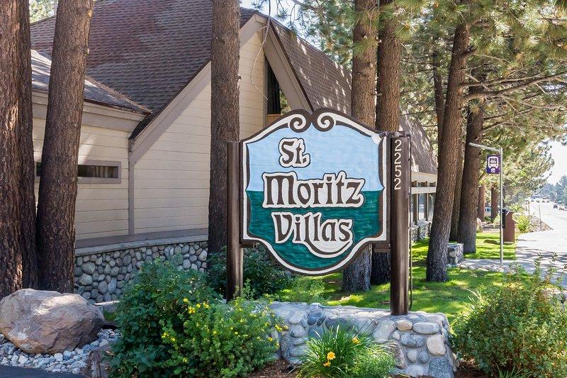 St. Moritz Villas Complex Sign