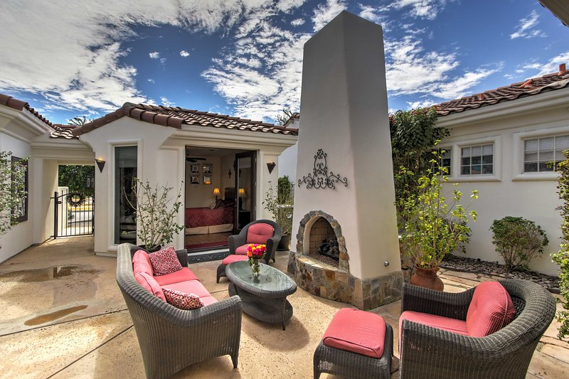 Discover a desert oasis at this beautiful 3-bedroom, 3.5-bath vacation rental home, nestled within the private gated community of The Citrus.