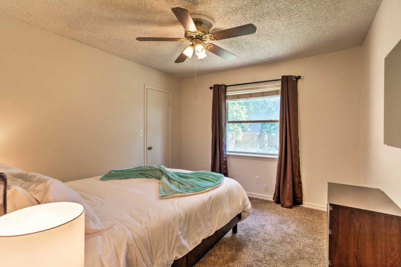 Plenty of natural light fills this second spacious bedroom.