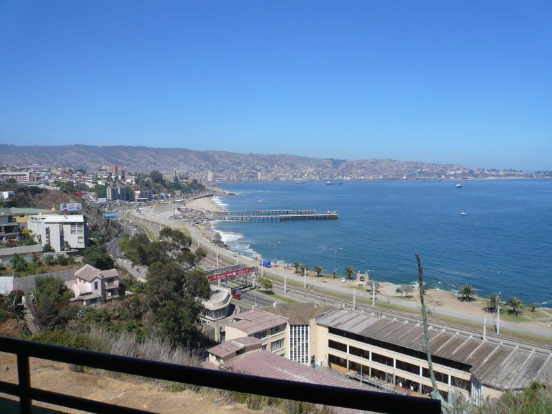 Vista hacia la bahía de Valparaíso