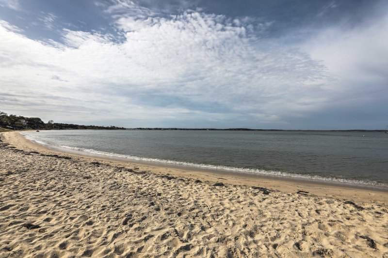 The white-sand shoreline is a short stroll from your front door!