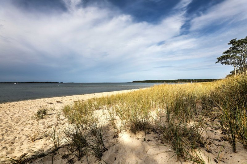 Take your dig your toes in the sand during your stay at this Sag Harbor home!
