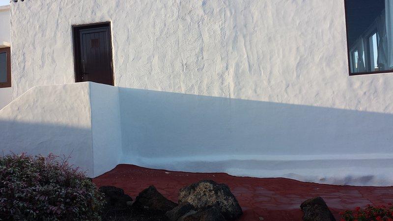 facciata laterale del Nord e accesso alla lavanderia