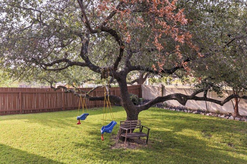 La cour clôturée est idéal pour laisser les enfants courir sauvage!