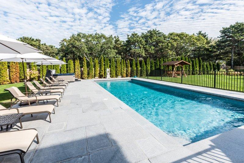 Pool & Patio Overlooking Yard