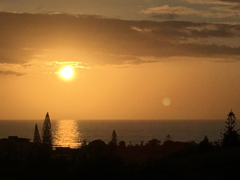 The sunsets from the villa