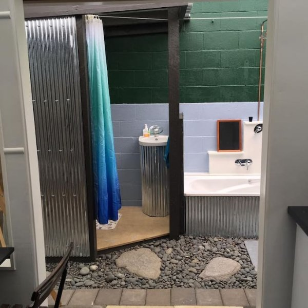 your own private outdoor bathroom