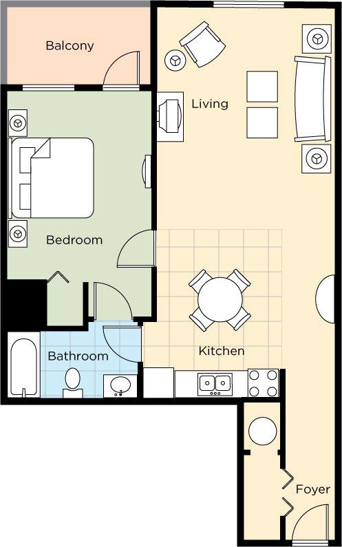 Diseño de la suite 1bedroom