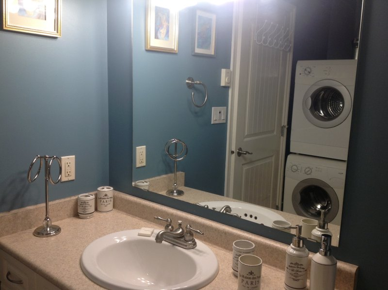 Washer & Dryer in 3 pc bathroom
