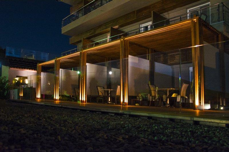 Cabanas by night