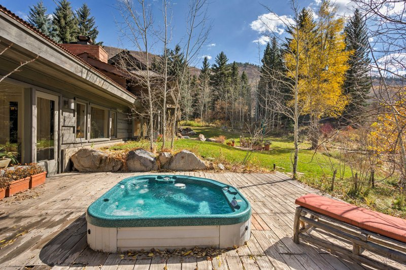 Plan a rejuvenating Rocky Mountain retreat to this Snowmas vacation rental home