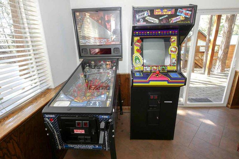 Pinball and Pacman!  Game Room