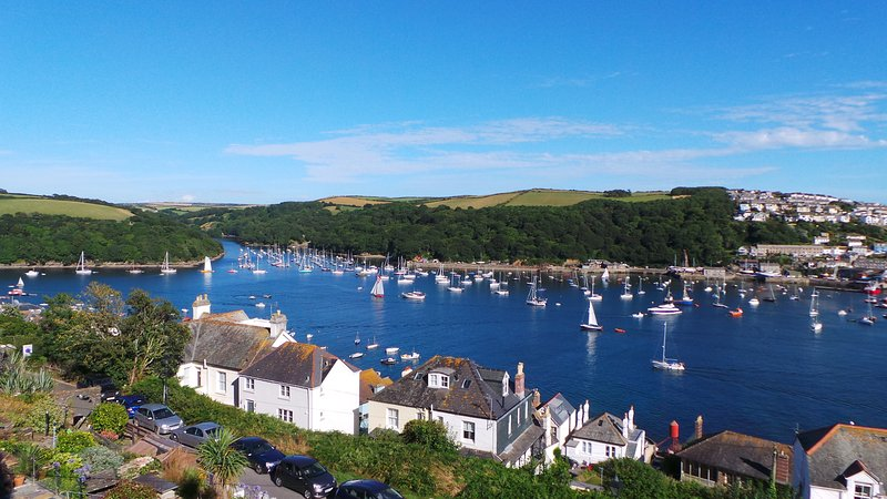 Spectacular Views from Apartment 1 over to Polruan, the River Fowey and out to sea