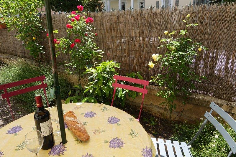 Private garden/terrasse.
