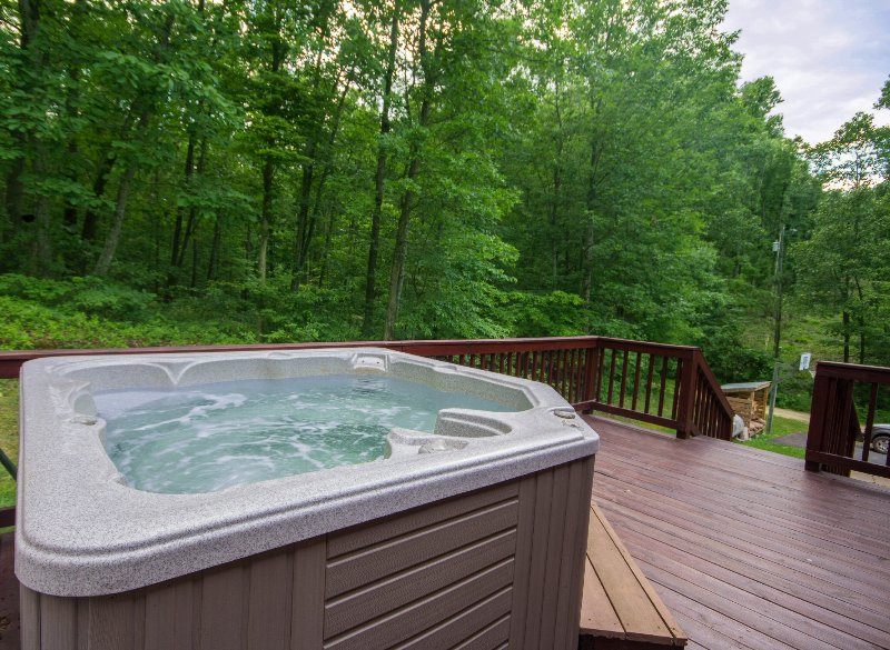 Large modern hot tub