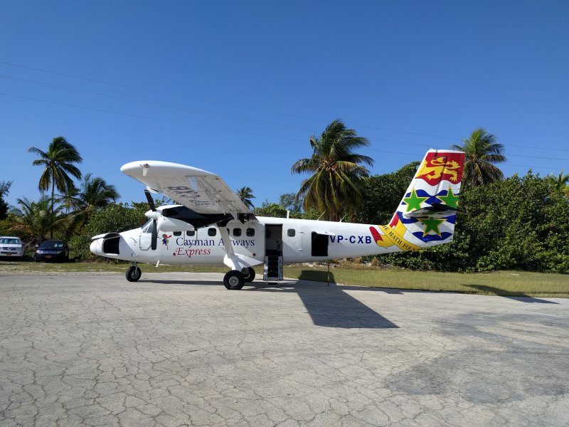 The 16 seater Twin Otter Turboprop plane - your only way in and out of Little Cayman.