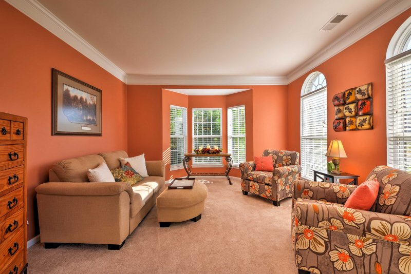 Multiple living areas makes it easy to spread out and relax.