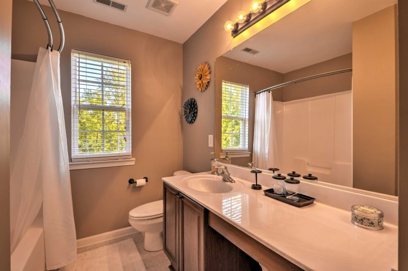 The home's 3 full bathrooms allow everyone to keep his or her morning routine.