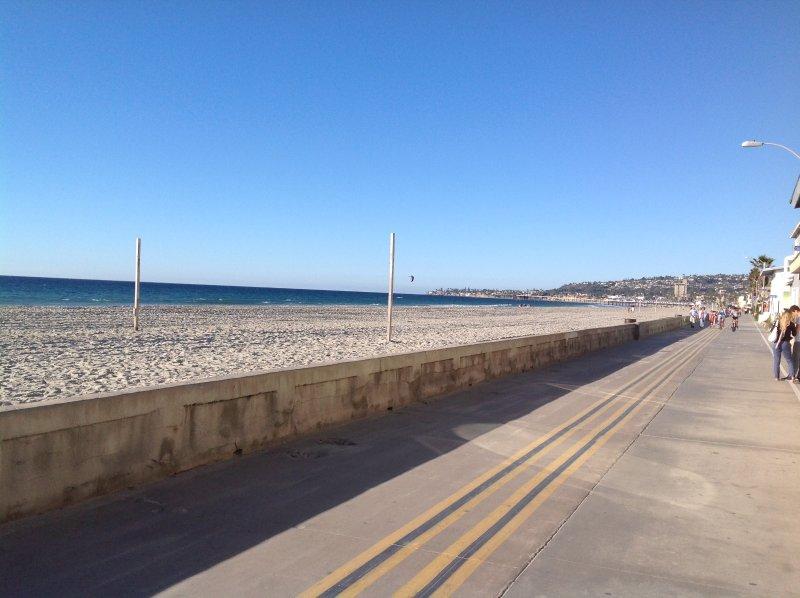 Op een steenworp afstand van de beroemde promenade Mission Beach en het brede zandstrand