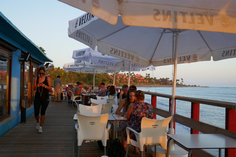 Short walk along the beach to this bar/restaurant and watch the sunset