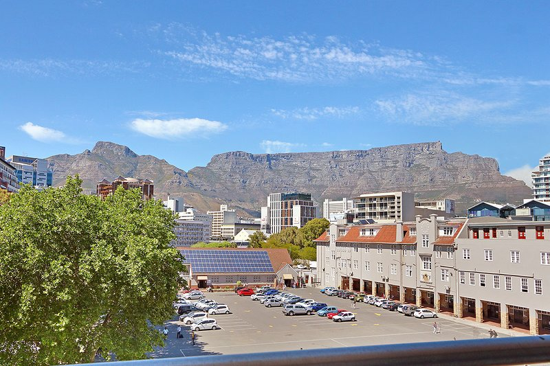 This is the view of Table Mountain from your balcony