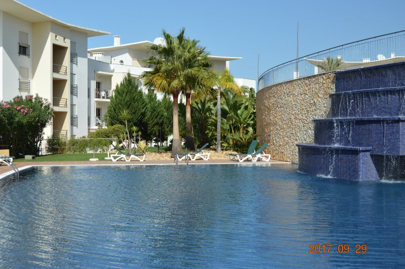 Main Swimming Pool With Waterfall Feature