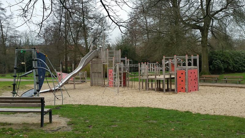 Large playgrounds on the street