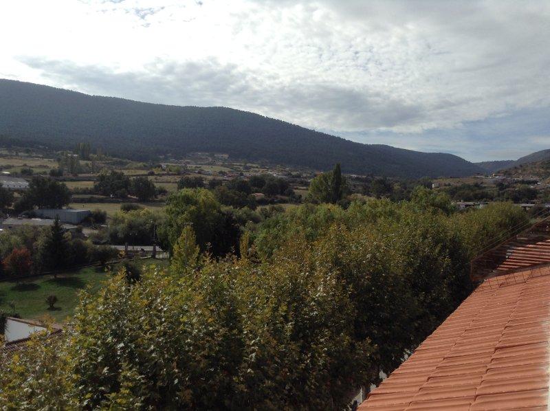 Vista do terraço do salão