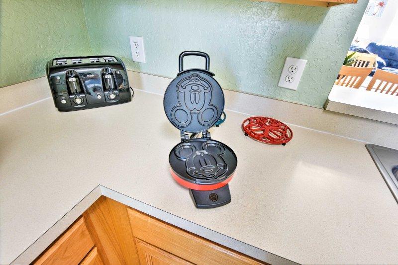 As crianças vão adorar preparar Mickey Mouse panquecas!