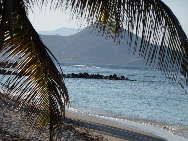 View from Herbert's Beach of eastern Peninsula of St.Kitts