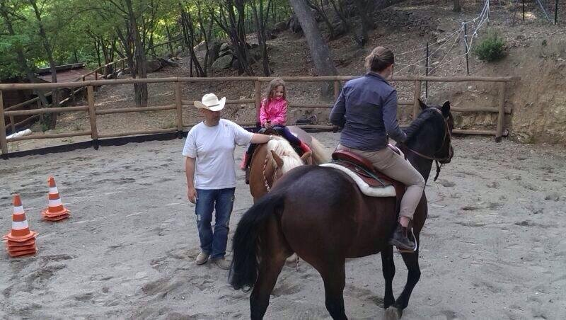 The equestrian center of the farm