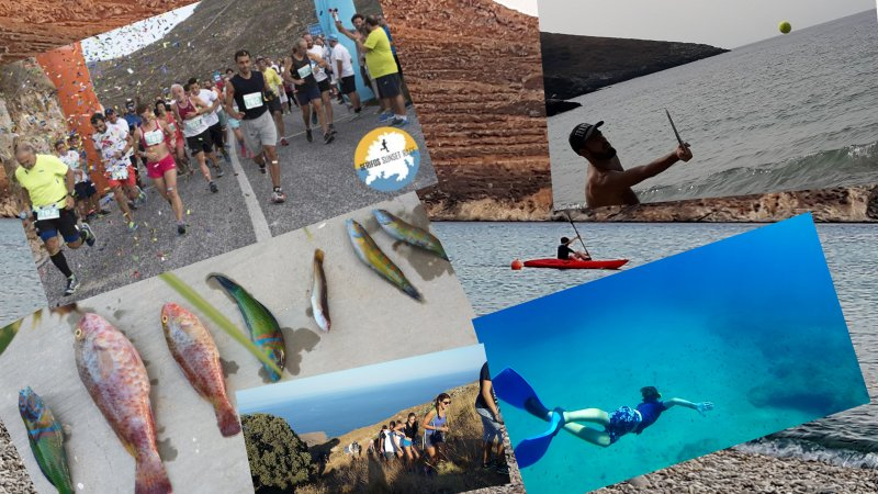 Here you can rent a kayak, snorkel, fish, play racquets or run the Serifos Sunset race in September.