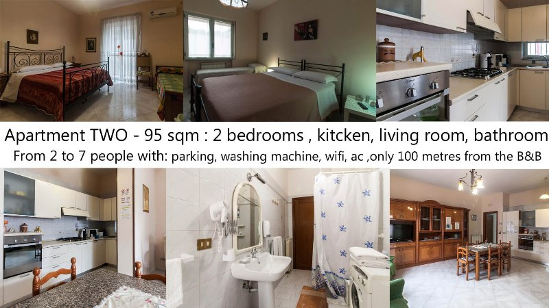 Apartment TWO for 7 people- Pompei Short Lets