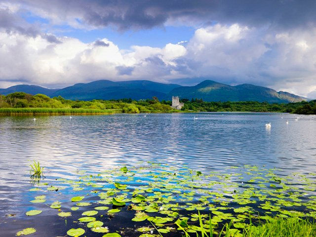 Ross Castle on the shores of Lough Leane, Killarney