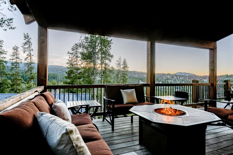 Wrap around balcony with great views on main level