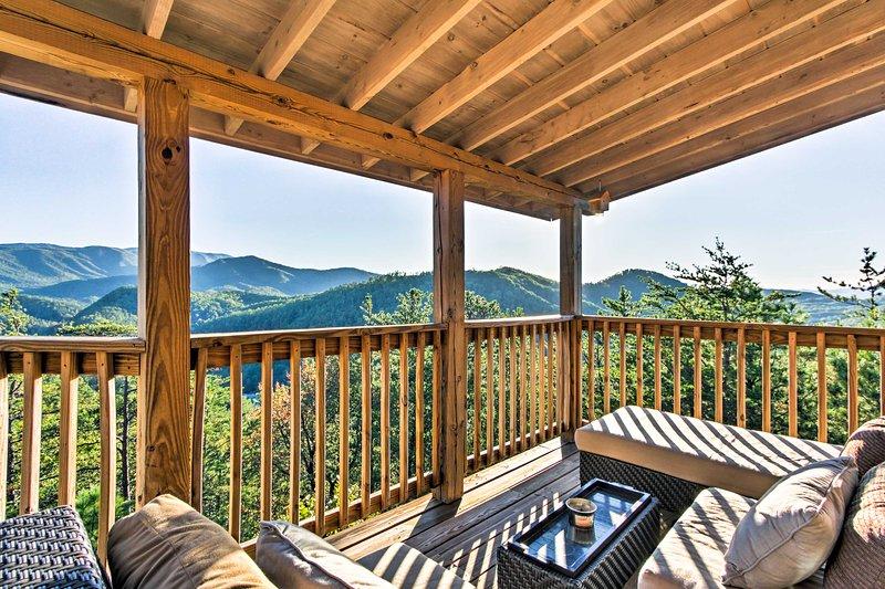 Experiencia vistas fenomenales 'de un Grand View', una magnífica cabina de alquiler en Pigeon Forge!
