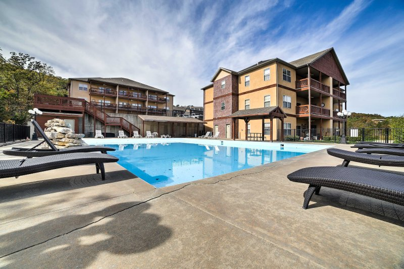 Throughout your stay, you'll have access to the large community pool!