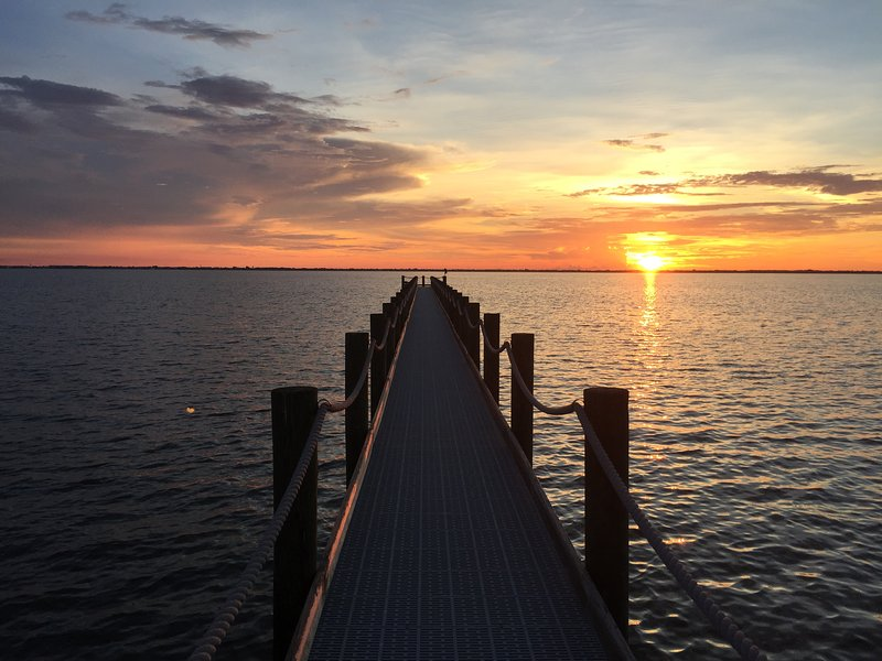 Amazing sunsets from the back yard dock