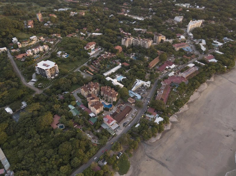 Aerial view of Tamarindo town