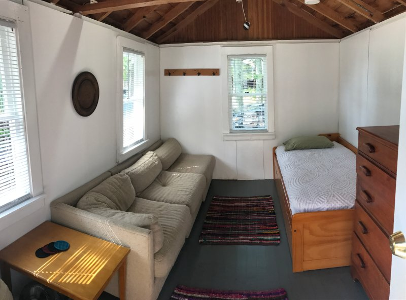 Cabin with 2 twin beds(trundle bed), couch and dresser