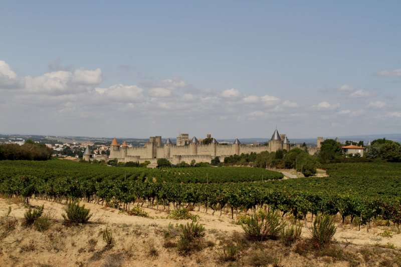 The citadel at Carcassonne