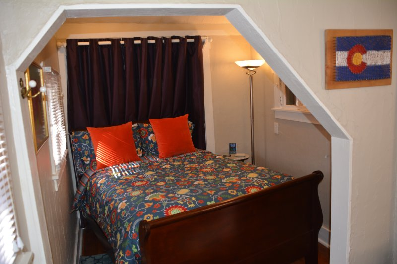 Bedroom nook with double sleigh bed