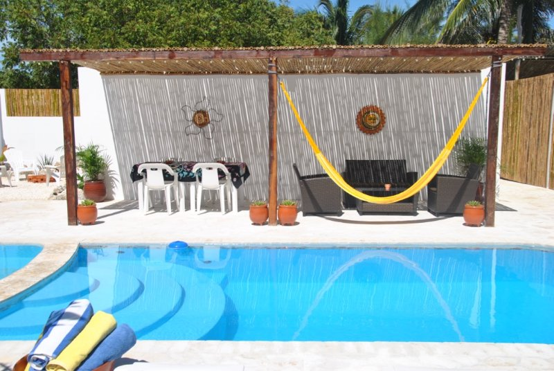 The Pool and courtyard area